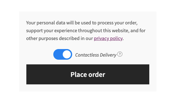 WooCommerce Contactless deliver checkout option